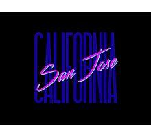Retro 80s San Jose, California Photographic Print