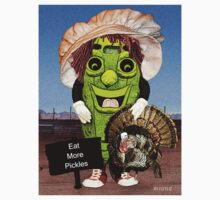 Happy Thanksgiving with Dolly Dill T-Shirt by Terri Chandler