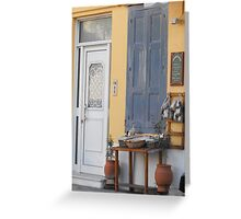 Greek Island herbal outlet Greeting Card