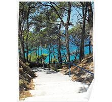 Greek Island Beach Samos Poster