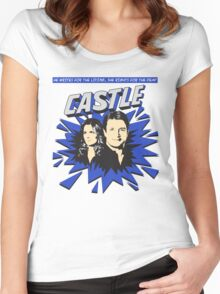 Castle Comic Cover Women's Fitted Scoop T-Shirt