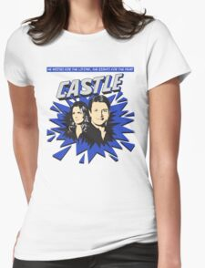 Castle Comic Cover Womens Fitted T-Shirt