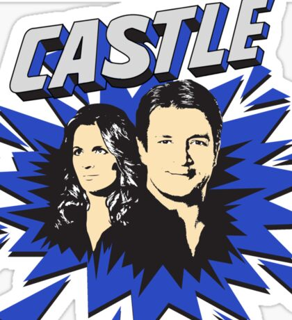 Castle Comic Cover Sticker