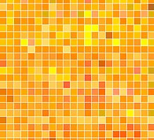 Orange Mosaic [iPhone / iPad / iPod Case] by Damienne Bingham