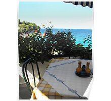 Greek Island Beach Samos restaurant #photography Poster