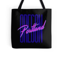 Retro 80s Portland, Oregon Tote Bag
