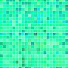 Mint Mosaic [iPhone / iPad / iPod Case] by Damienne Bingham