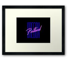 Retro 80s Portland, Oregon Framed Print