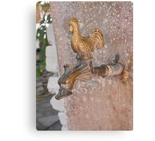 Greek Island chicken water fountain #photography Canvas Print