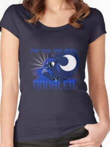 "Princess Luna ""The Fun Has Been Doubled"" Women's Fitted Scoop T-Shirt"