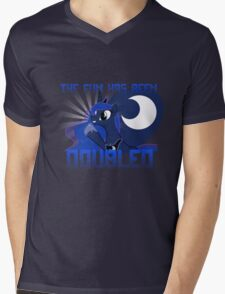 "Princess Luna ""The Fun Has Been Doubled"" Mens V-Neck T-Shirt"