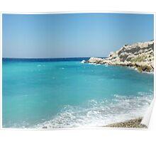 Greek Island Samos Beach 3 #photograph Poster