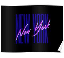 Retro 80s New York City, NY Poster