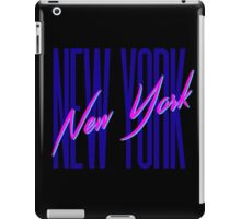 Retro 80s New York City, NY iPad Case/Skin