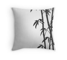 Bamboo stems Throw Pillow