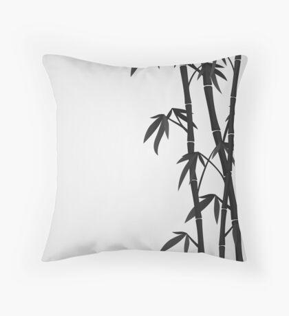 Bamboo stems Throw Pillow