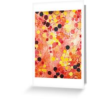 PERSONAL BUBBLE - Hot Pink Bubblegum Pop Fun Whimsical Circles Abstract Acrylic Painting Gift Greeting Card