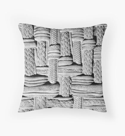 Embossed Concrete Wall Art Throw Pillow