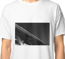 Monochrome Black and White Building Abstract Classic T-Shirt