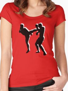 kickboxing t-shirt Women's Fitted Scoop T-Shirt