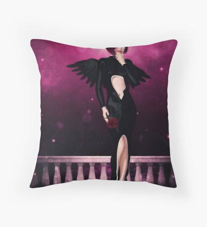 Sultry Seraph Throw Pillow