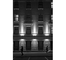Illuminated Building with People Photographic Print