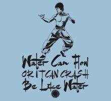 Bruce Lee - Be Like Water - Black by yasashiikyojin