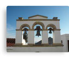 Greek Island Church bells 2 Canvas Print