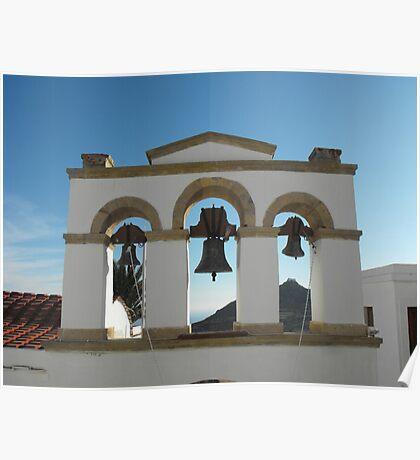 Greek Island Church bells 2 Poster