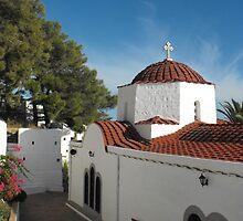 Greek Island Church  #photography by SlavicaB