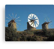 Greek Islands Windmills Canvas Print