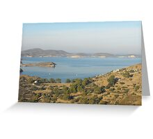 Greek Island Landscape Greeting Card