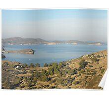 Greek Island Landscape Poster