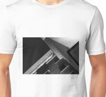 Monochrome Black and White Building Abstract Unisex T-Shirt