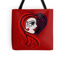 red hair-swirls Tote Bag