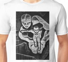 Woman Holding a Child in her Hands Unisex T-Shirt