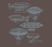 Airships (Gunmetal) Unisex T-Shirt