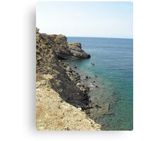Beautiful Greek Island Sea shore Canvas Print