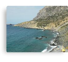 Beautiful Greek Island Sea shore 1 Canvas Print