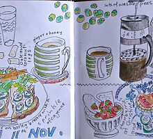 from the food diary - 11th November by Evelyn Bach