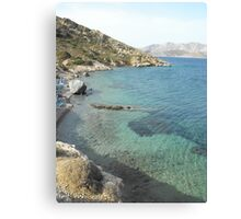 Kalymnos Greek Island Sea shore Canvas Print