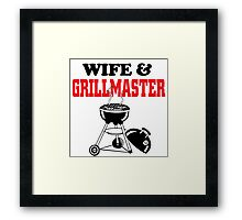 wife and grill master Framed Print