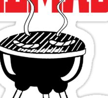 wife and grill master Sticker