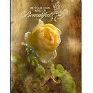 Yellow Rose - Beautiful by Kathy Nairn