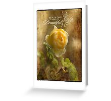 Yellow Rose - Beautiful Greeting Card