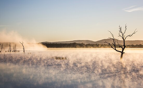 early morning at lake fyans by ketut suwitra