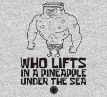 Spongebob - Who Lifts - Black Kids Tee