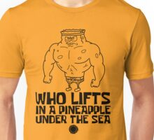 Spongebob - Who Lifts - Black Unisex T-Shirt