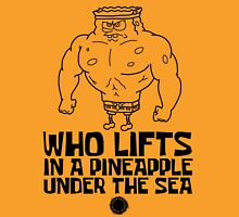 Spongebob - Who Lifts - Black T-Shirt