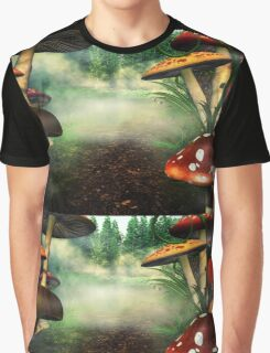Magic mushrooms in reds Graphic T-Shirt